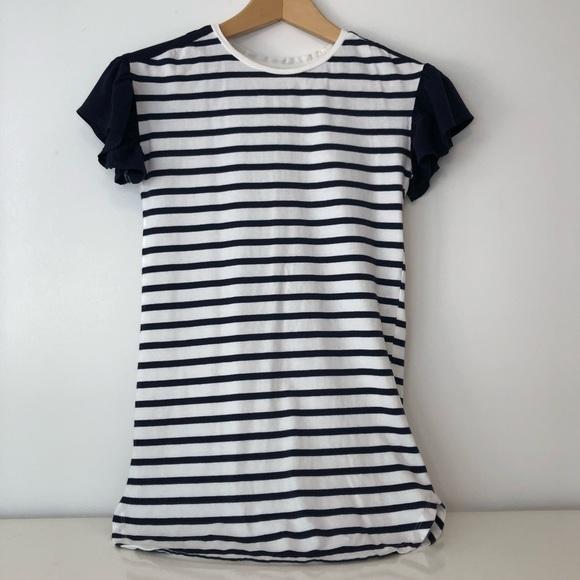 GAPKids Navy & White Stripped T-Shirt Dress